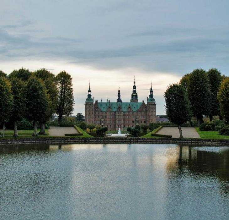 Frederiksborg Castle seen from the castle grounds