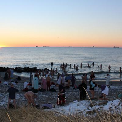 The annualSkagen Winter Swimming Festival takes place in late January